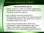 qu es un documento p blico