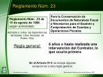 reglamento n m 23