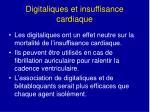 digitaliques et insuffisance cardiaque