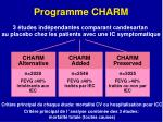 programme charm