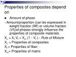 properties of composites depend on