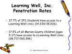 learning well inc penetration rates
