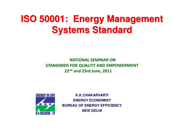 iso 50001 energy management systems standard n.