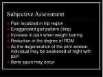 subjective assessment