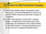 ii 3 timeline for 2004 presidential campaign