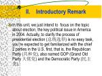 ii introductory remark