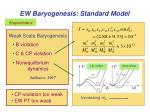 ew baryogenesis standard model1