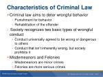 characteristics of criminal law