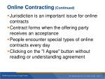 online contracting continued