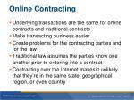 online contracting