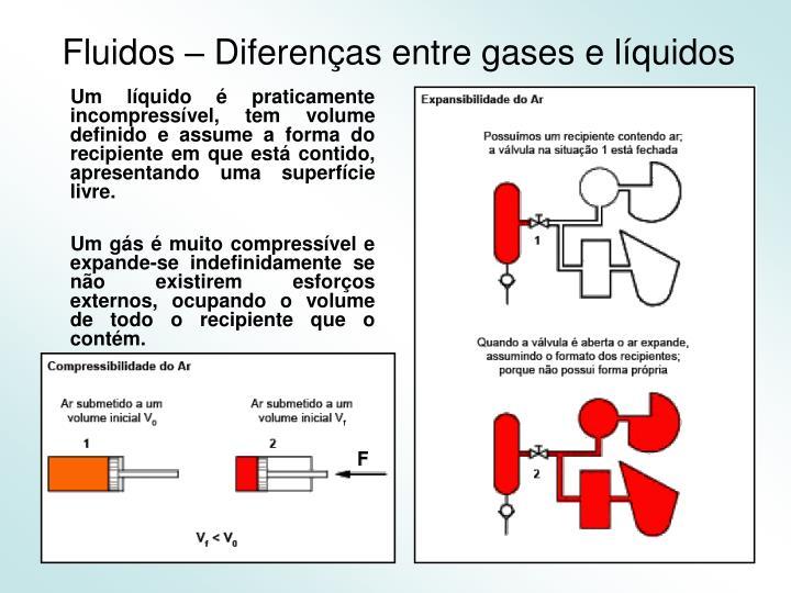 Fluidos – Diferenças entre gases e líquidos