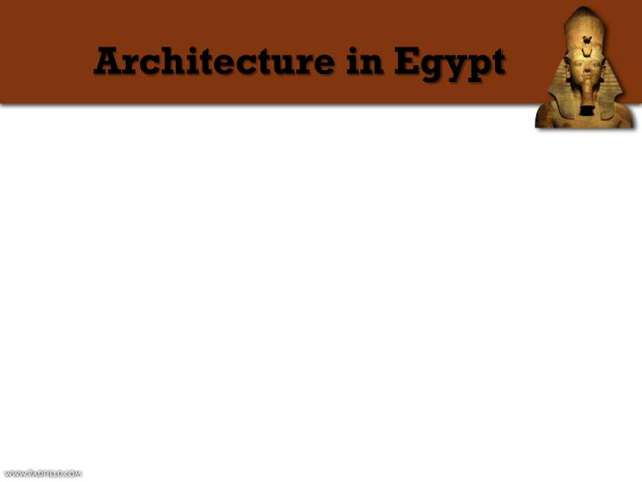 Architecture in Egypt