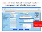 step 10 select the bank from drop down list in which you are having net banking account