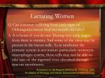 lactating women