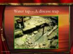 water tap a disease trap