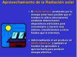 aprovechamiento de la radiaci n solar