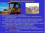 biomasa introducci n