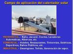 campo de aplicaci n del calentador solar