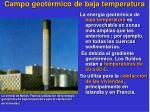 campo geot rmico de baja temperatura