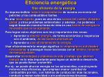 eficiencia energ tica