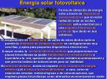 energ a solar fotovoltaica