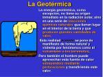 la geot rmica