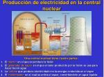 producci n de electricidad en la central nuclear