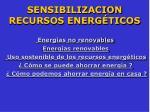 sensibilizacion recursos energ ticos