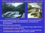 tipos de centrales hidroel ctricas