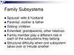 family subsystems