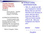 possible therapist interventions in the problem of mrs n s daughter