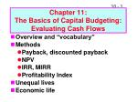 chapter 11 the basics of capital budgeting evaluating cash flows