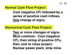 normal cash flow project