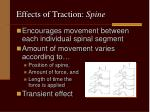 effects of traction spine