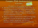 campus wide implementation activities disciplines for strengthening instruction
