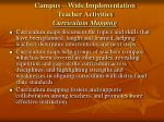 campus wide implementation teacher activities curriculum mapping