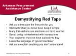 demystifying red tape