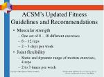 acsm s updated fitness guidelines and recommendations1