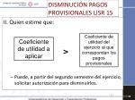 disminuci n pagos provisionales lisr 15