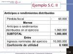 ejemplo s c ii
