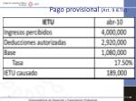 pago provisional art 9 ietu2