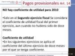 pagos provisionales art 144