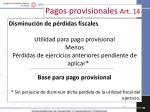pagos provisionales art 148