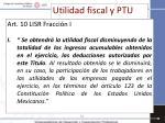 utilidad fiscal y ptu1