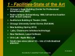 1 facilities state of the art