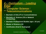 4 curriculum leading edge computer science telecommunications