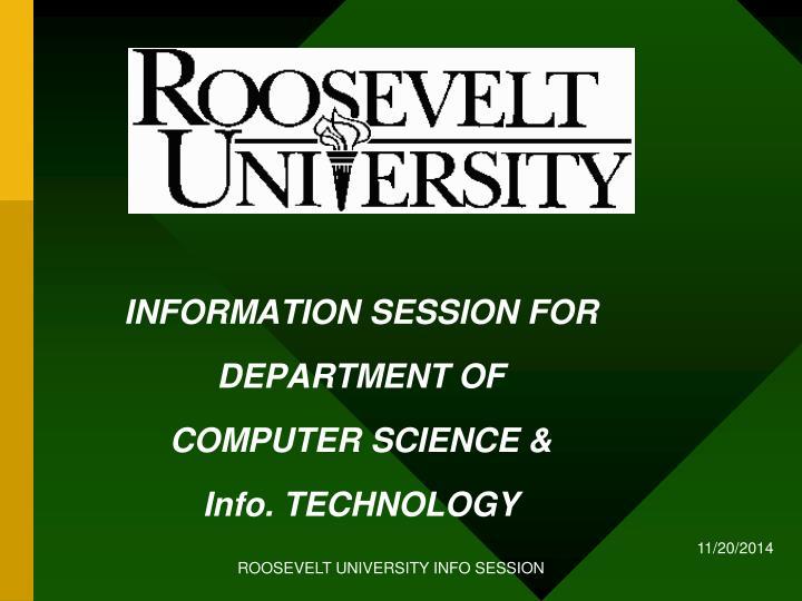 information session for department of computer science info technology n.