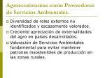 agroecosistemas como proveedores de servicios ambientales