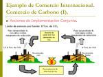 ejemplo de comercio internacional comercio de carbono i