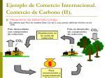 ejemplo de comercio internacional comercio de carbono ii